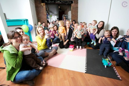 16 parents come in to learn the many benefits of cloth diapers
