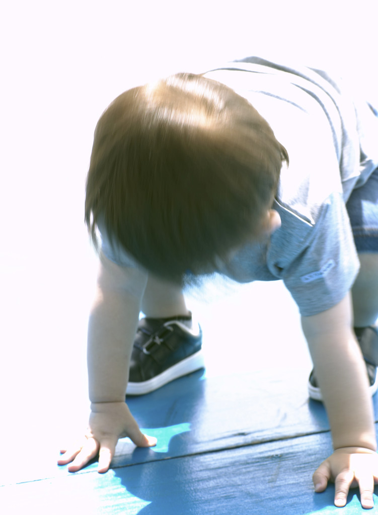 Boy on all Fours