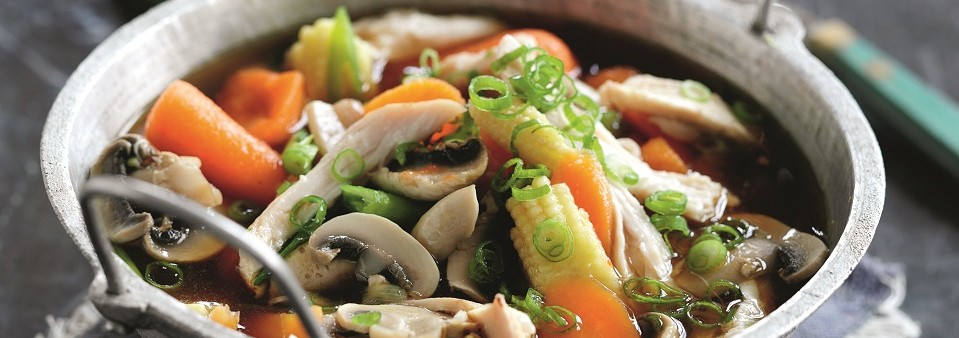 Chinese Chicken and Mushroom Soup Recipe