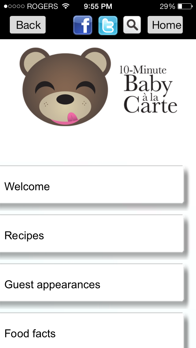 10 Minute Baby A La Carte App Review