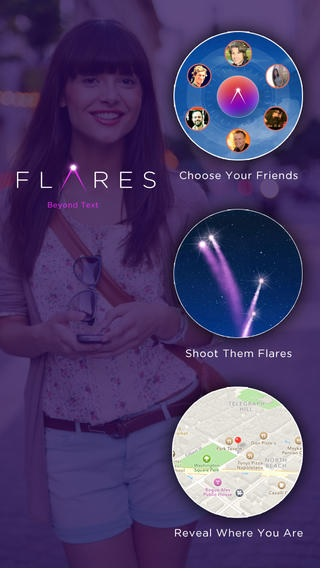 Flare App For When You're Running Late