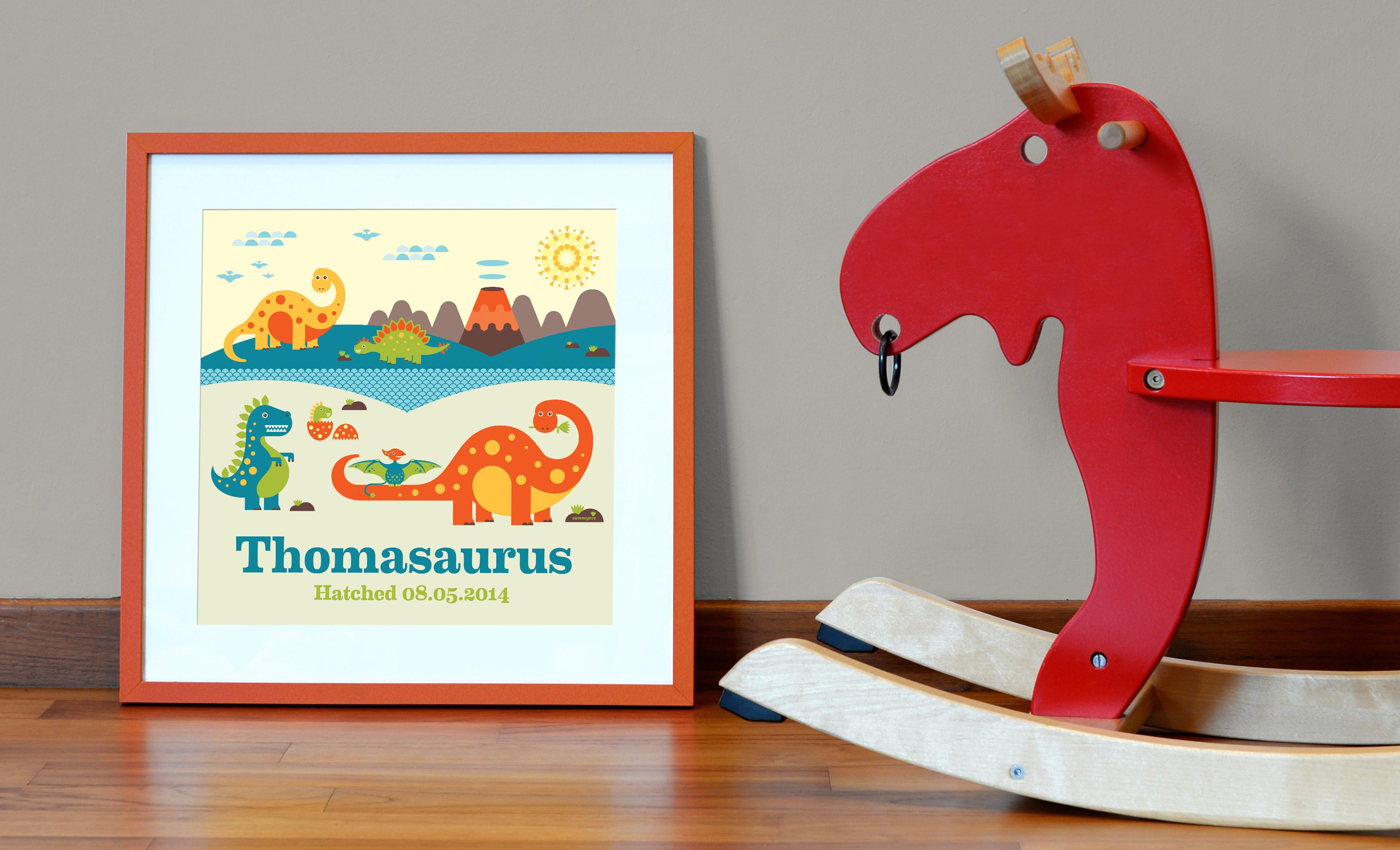 Sammyeve Dino Print