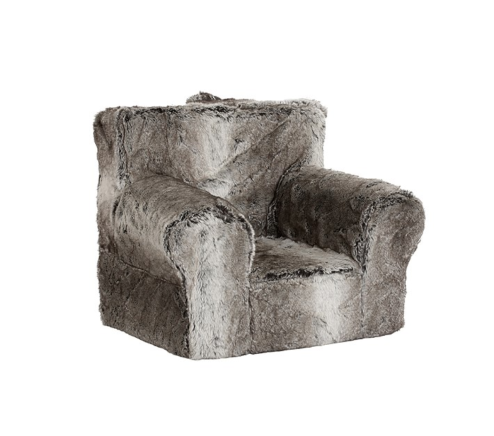 Gray Ombre Faux Fur Anywhere Chair