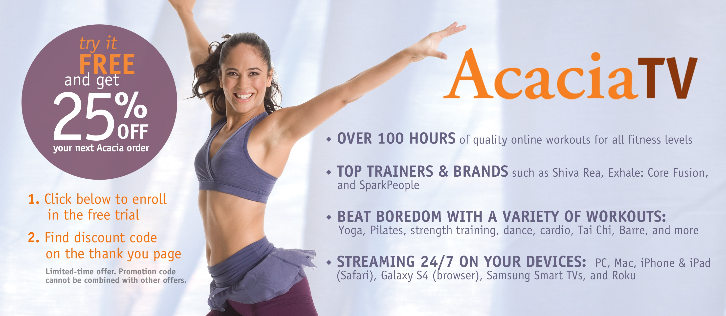 Acacia TV For Moms Who Want To Work- Out At Home