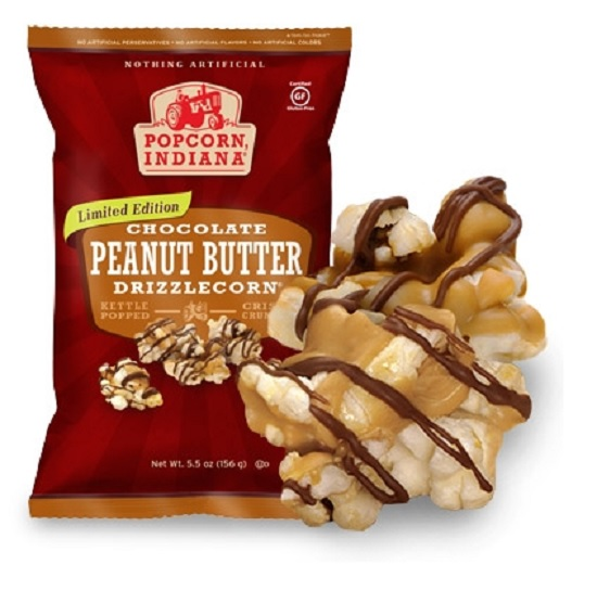 Popcorn, Indiana Chocolate Peanut Butter Drizzlecorn!