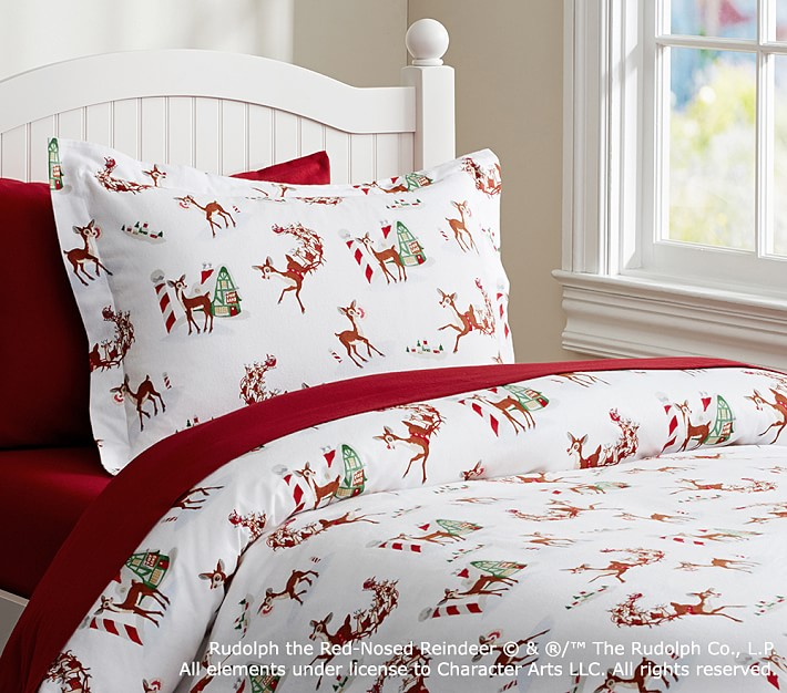 Rudolph The Red-Nosed Reindeer® Flannel Duvet Cover
