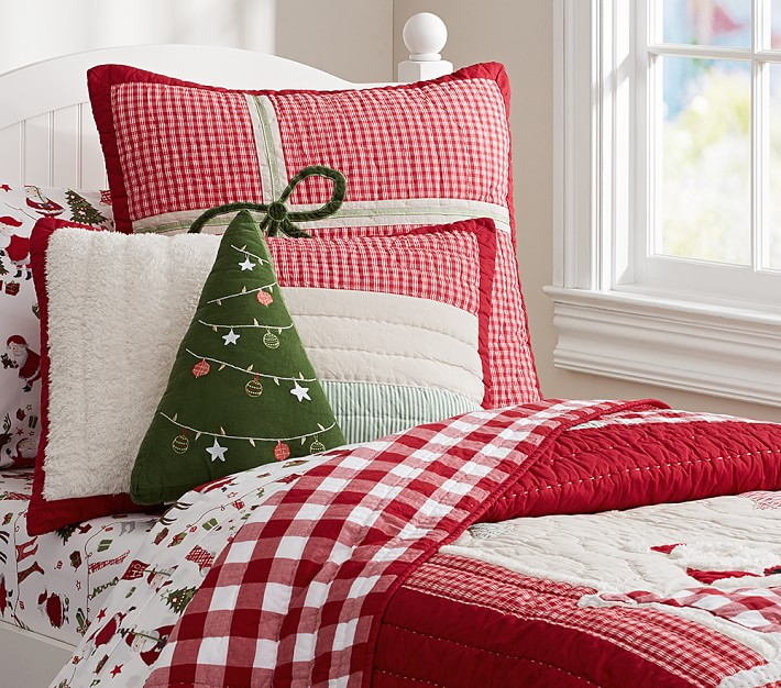 Santa & Friends Quilted Bedding