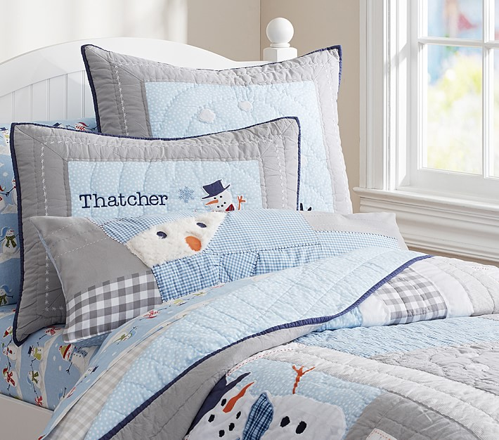 Snowman Quilted Bedding