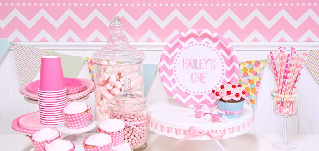 Pink Chevron Birthday Party