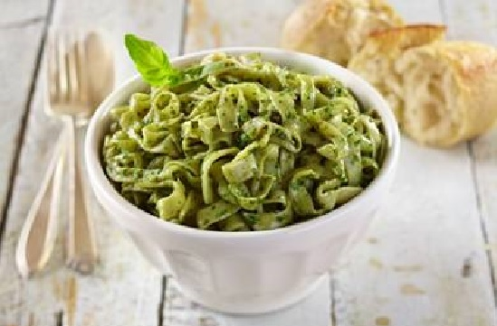 RECIPE: Pesto with Mushrooms and Vegetables