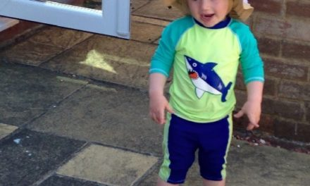 The Rumble in the Garden – Toddler vs Sunhat