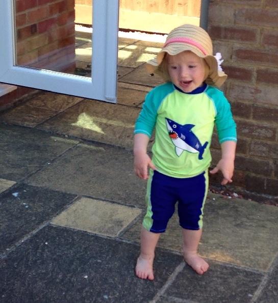 The Rumble in the Garden – Toddler vs Sunhat