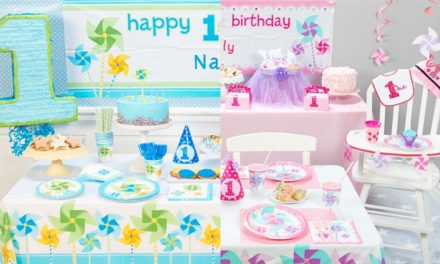 First Birthday Pinwheel Theme