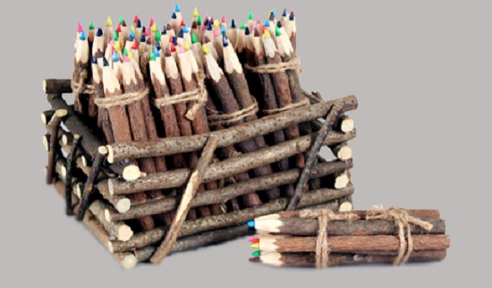 12 DAYS OF LIKES- DAY 2 Natural Twig Colored Pencil Set