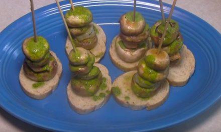 How To Make Shrimp and Mushroom Pinchos