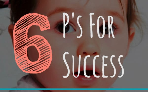 Potty Training: The 6 P's for Success