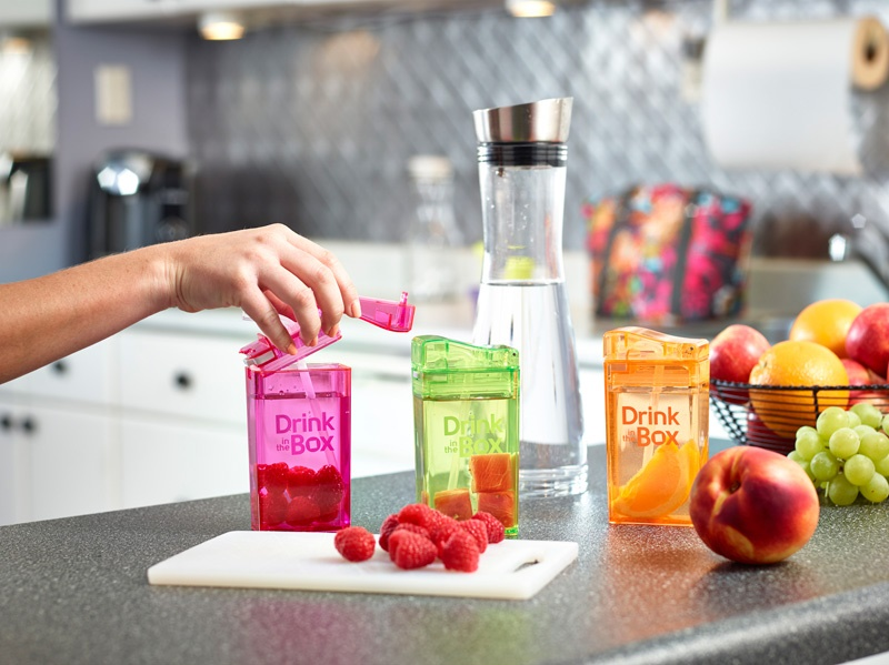 Drink In The Box Eco Friendly Reuseable Drink and Juice Box Container