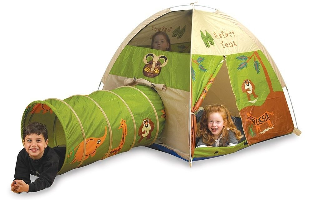 The Pacific Play Tents Safari Tent and Tunnel Combo