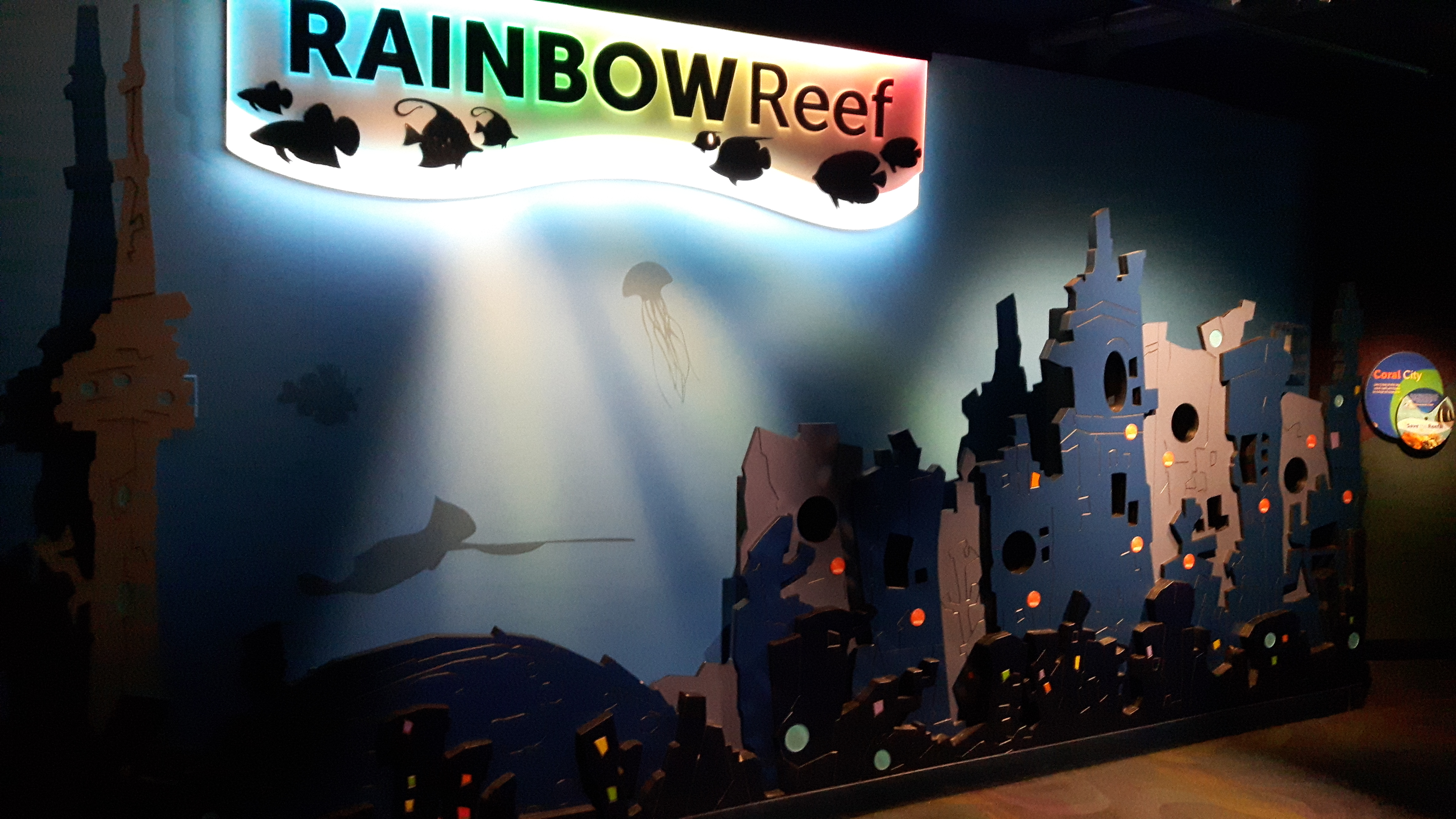 The Rainbow Reef is a fun photo opp at the Ripley's Jazz Night In Toronto
