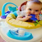 Children: As right on time can begin riding baby jumpers