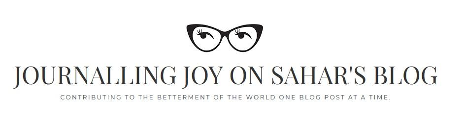 Blogger of the Week is Journalling Joy on Sahar's Blog