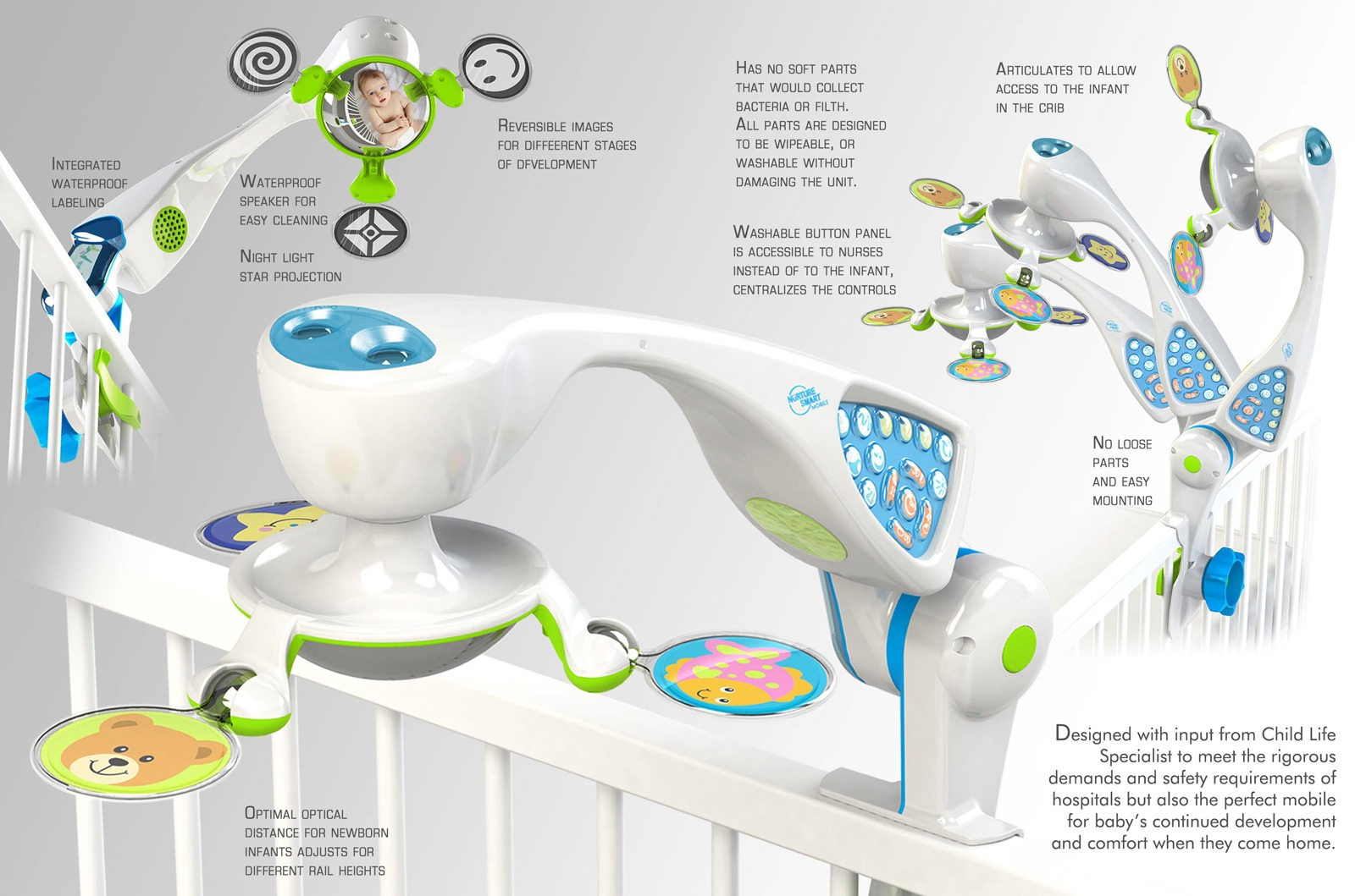 Nurture Smart has so many features as a crib mobile