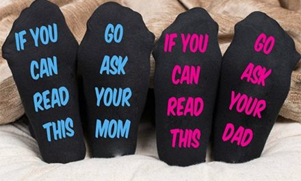 Buy Personalized Socks If You Can Read This Go Ask Your Mom or If You Can Read This Go Ask Your Dad
