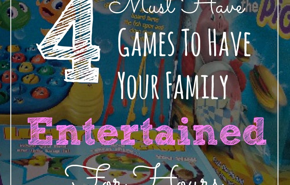 4 Must Have Games to Have Your Family Entertained For Hours