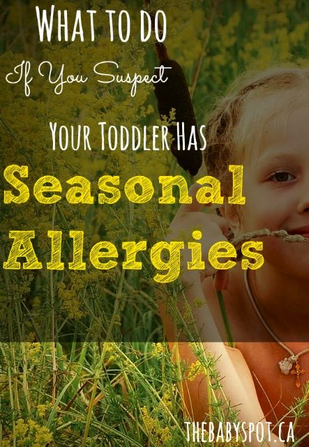 What to Do If You Suspect Your Toddler Has Seasonal Allergies