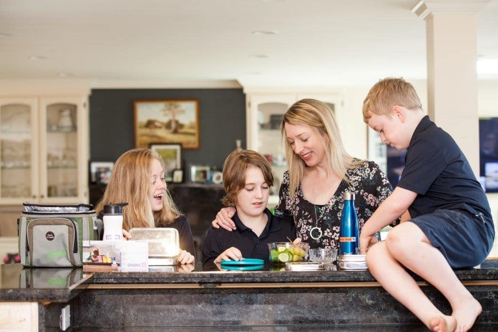 Julie Cole being candid with her adorable family